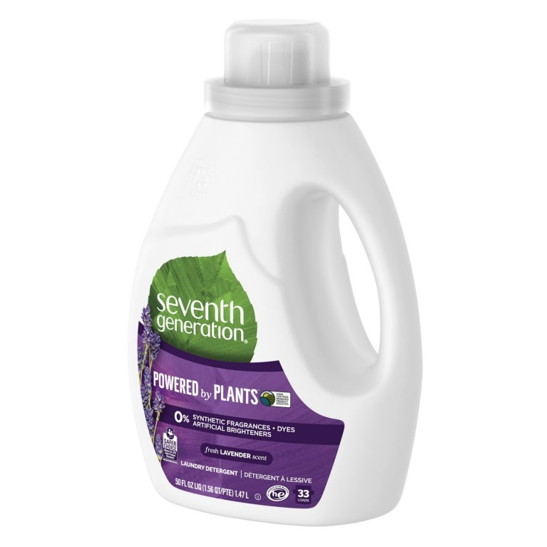 Right side of Laundry Detergent bottle