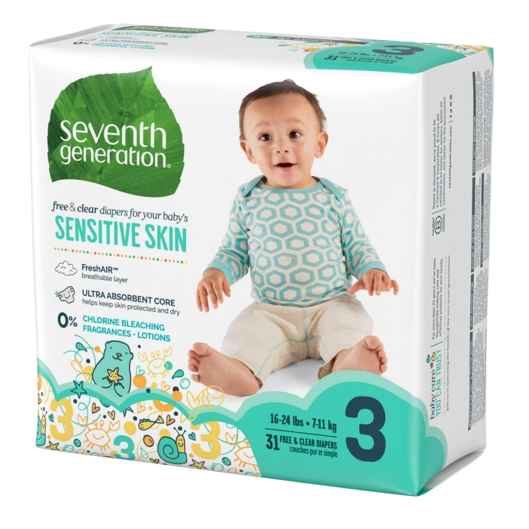 Left side of Baby Diapers package