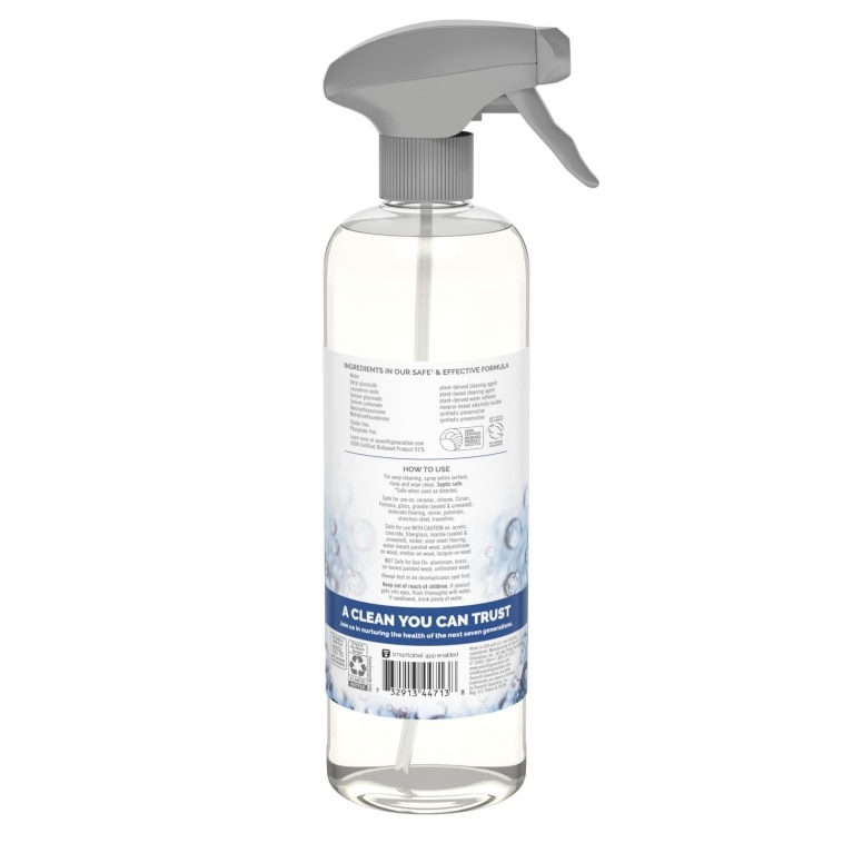 Back of All Purpose Cleaner spray bottle