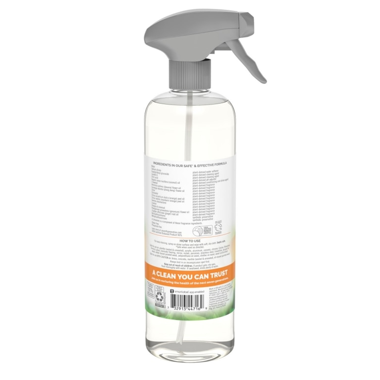 Back of Granite & Stone Cleaner spray bottle