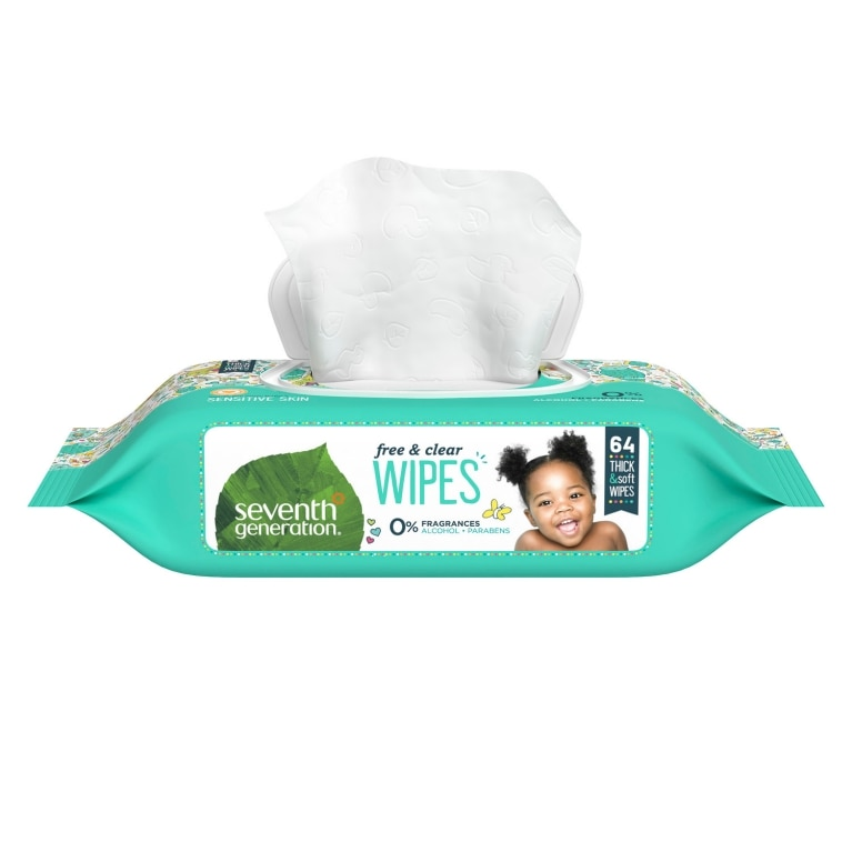 Front of Baby Wipes package