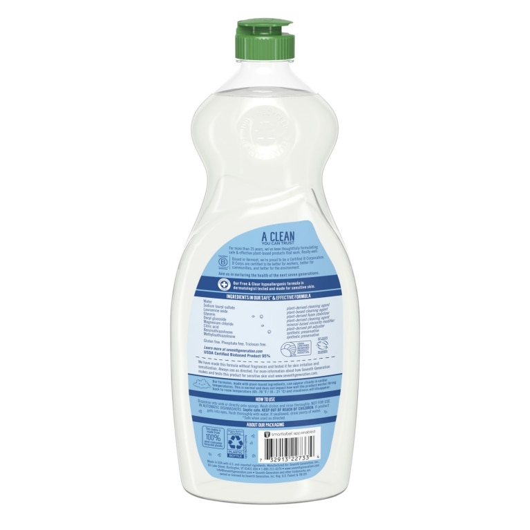 Back of Hand Dishwashing Liquid bottle