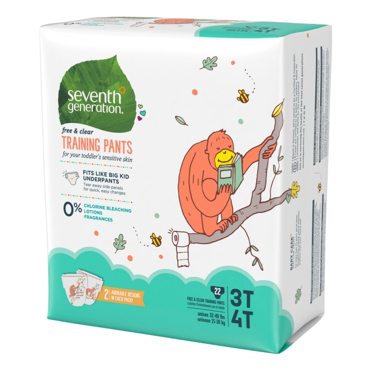 Left side of Baby Training Pants package