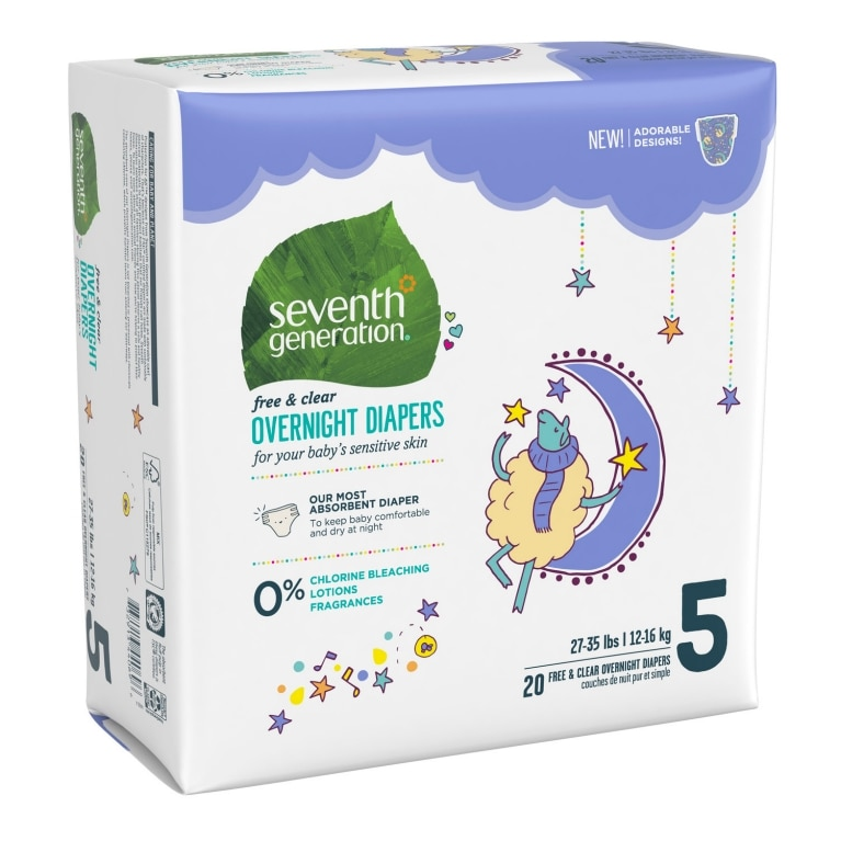 Back of Baby Diapers package