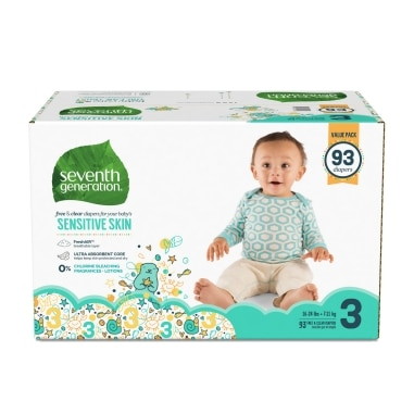 Front of Baby Diapers package