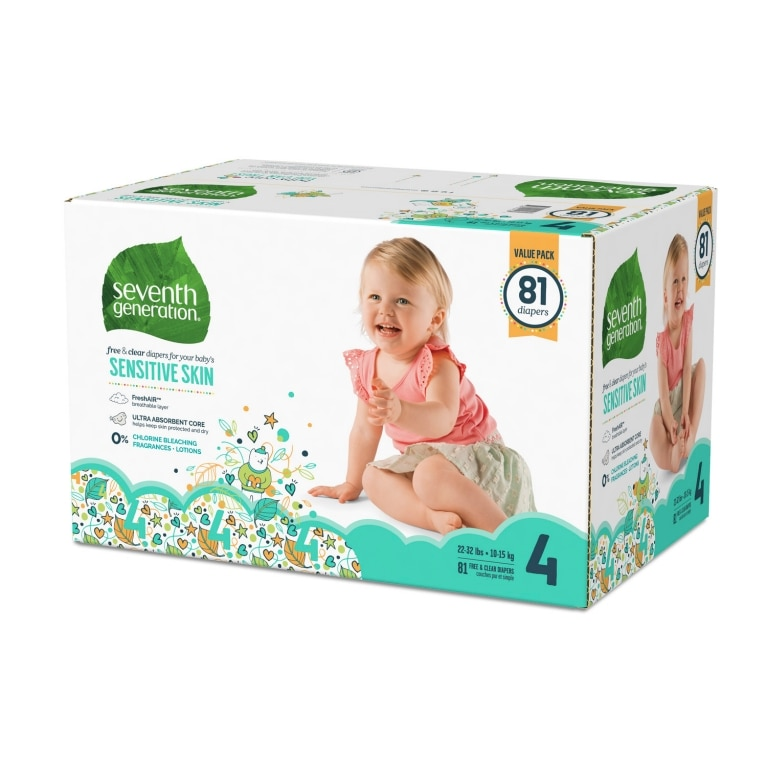 Right side of Baby Diapers package
