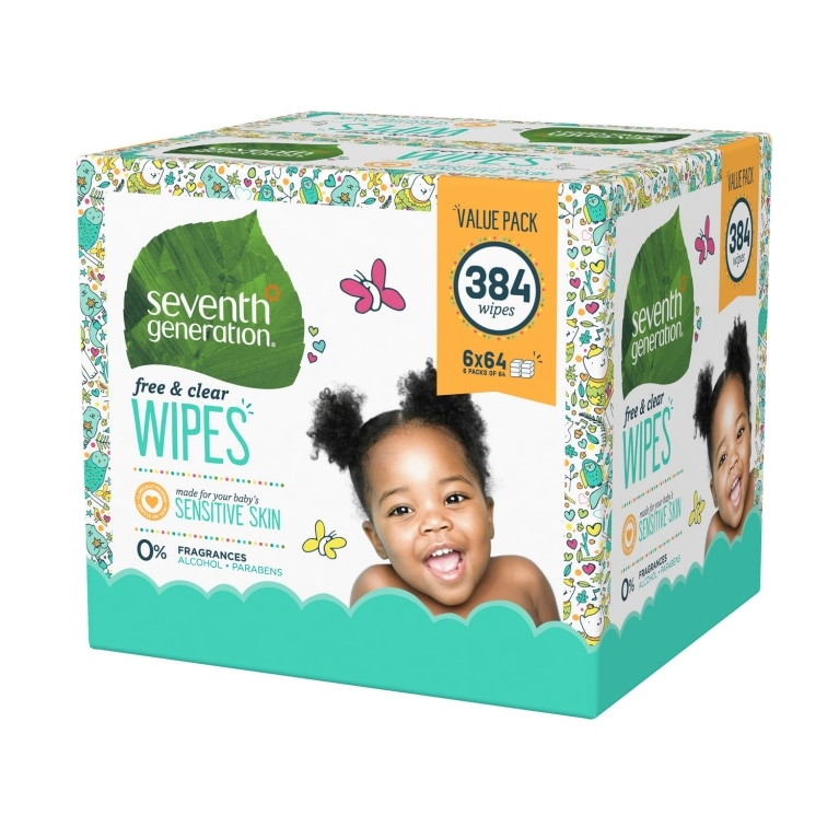 Left side of Baby Wipes box